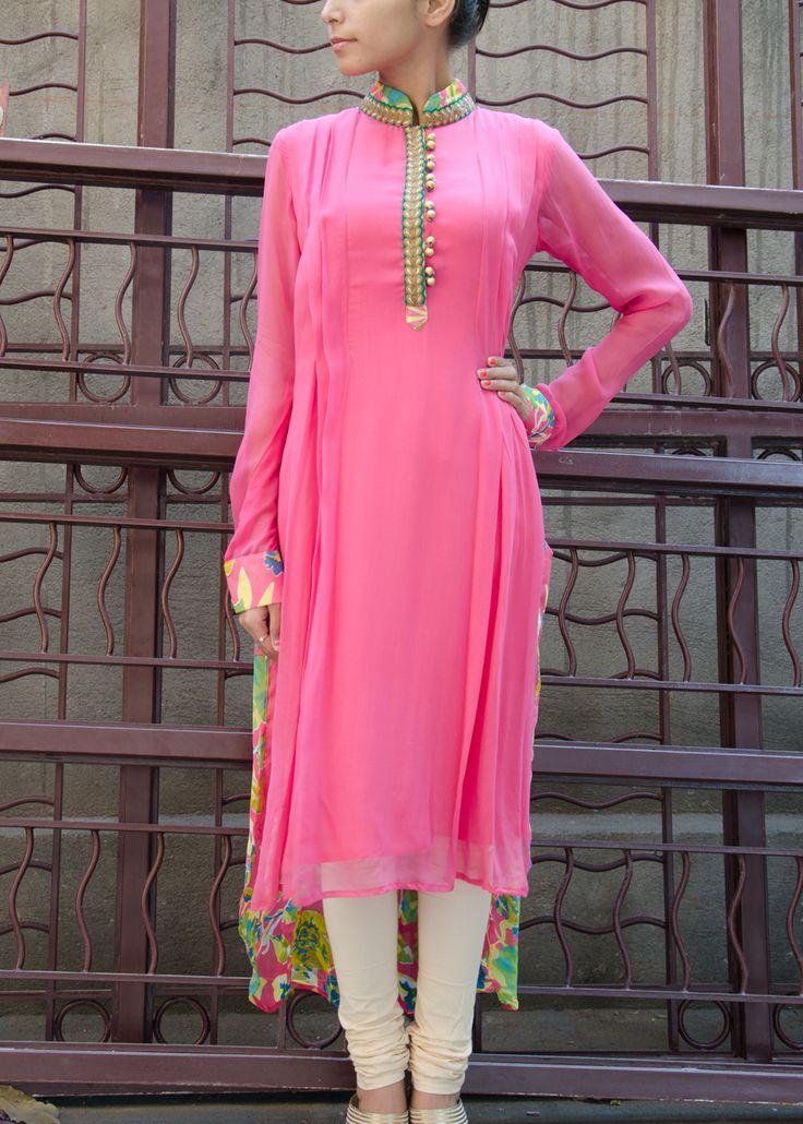 Pink Chiffon Tunic Vasansi Jaipur Dresses Fashion
