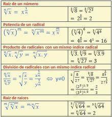 Leyes de los exponentes y radicales - Algebra