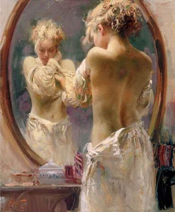 Pino Daeni 1939-2010   Italian Impressionist painter