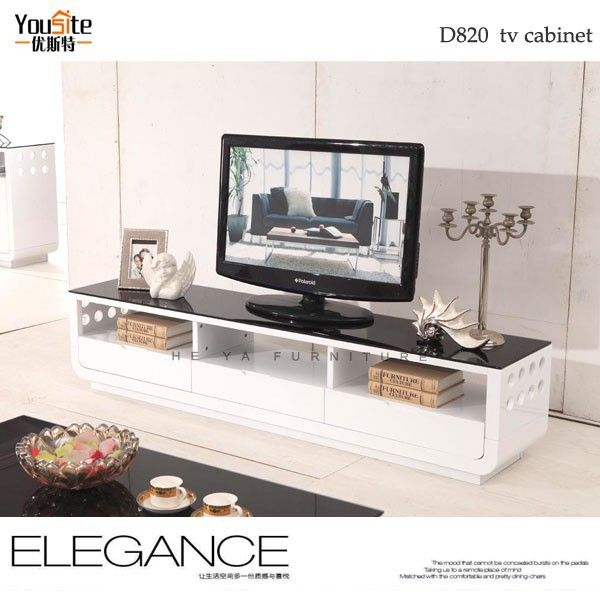Living room showcase laminate tv cabinet wall panel with for Lcd unit designs living room