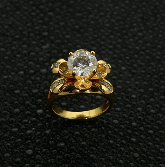 ladies,14kt,yellow,gold,engagement,ring,flower,design,round,cut,VS/SI G,color;diamonds,+J.Parad,Warranty,stunning gift box,spring model 2014