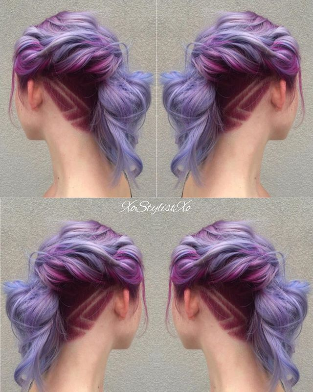 Love this beautiful creative color! I took it up a notch by adding an undercut and design. Want to see more looks like this? What inspires your creations?