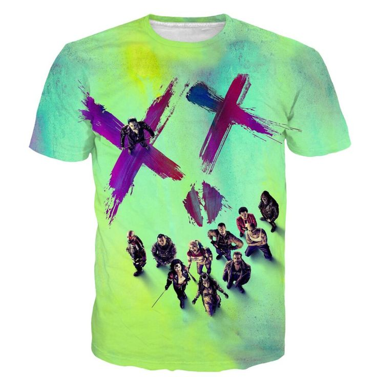 Suicide Squad T Shirts Harley Quinn Joker //Price: $27.48 & FREE Shipping //     #arkhamknight #superman #wonderwoman #thedarkknight #superheroes #harley #margotrobbieharleyquinn