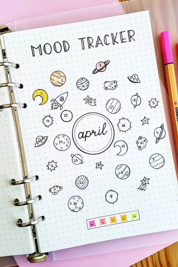 25 Bullet Journal Space Spreads That Are Out Of This World