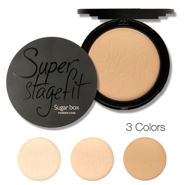 Hot 2 in1 wajah bubuk kulit kue basah & kering kontrol minyak concealer palette make up sugar box maquiagem tw2