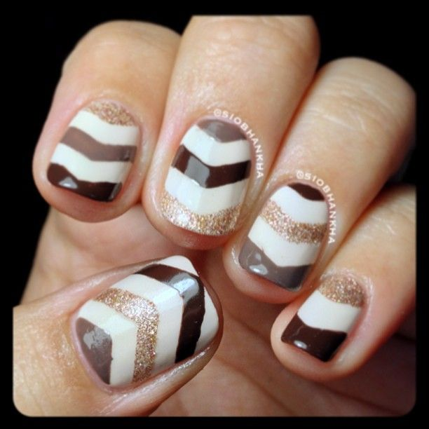 Gold, silver and more! #nails, #nailart