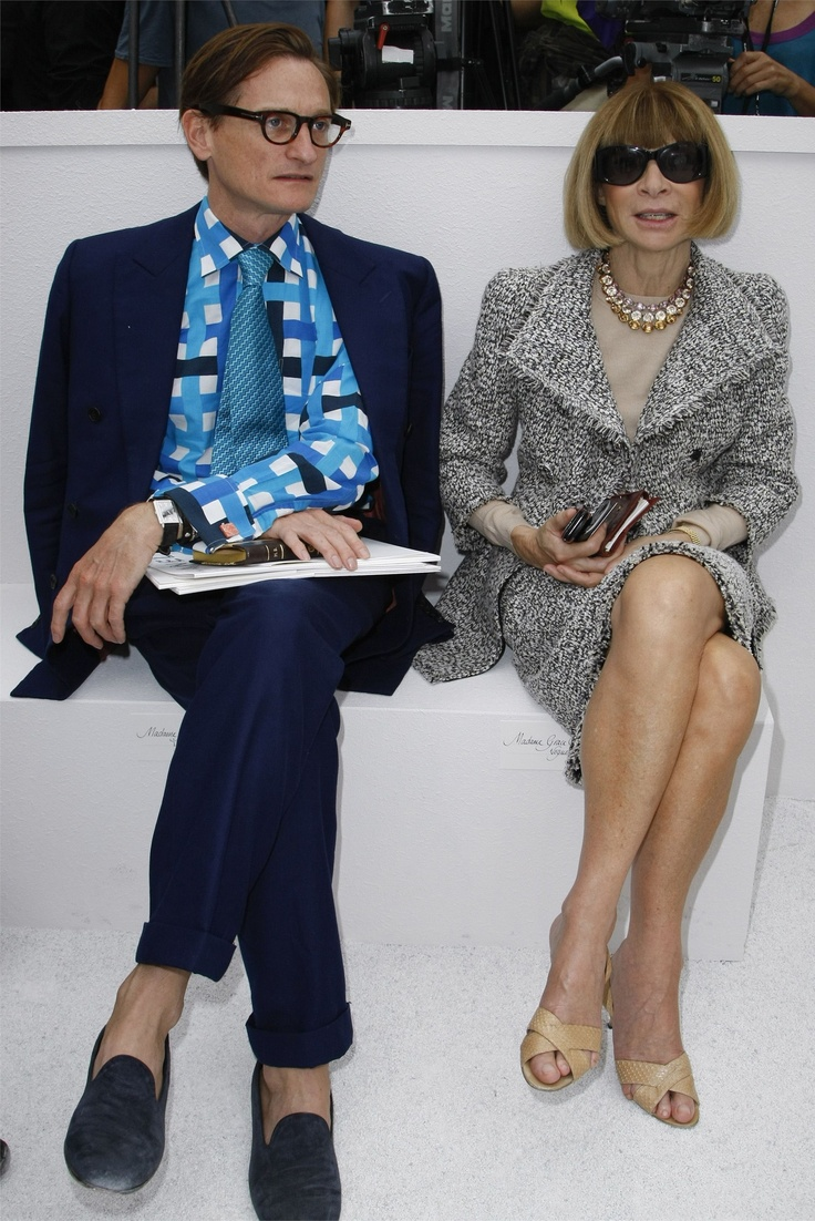 Hamish Bowles and Anna Wintour