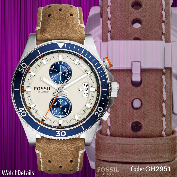 Check out Sports watches for men Wakefield Chronograph Leather CH2951 http://goo.gl/RVIc5w  #fashion #style