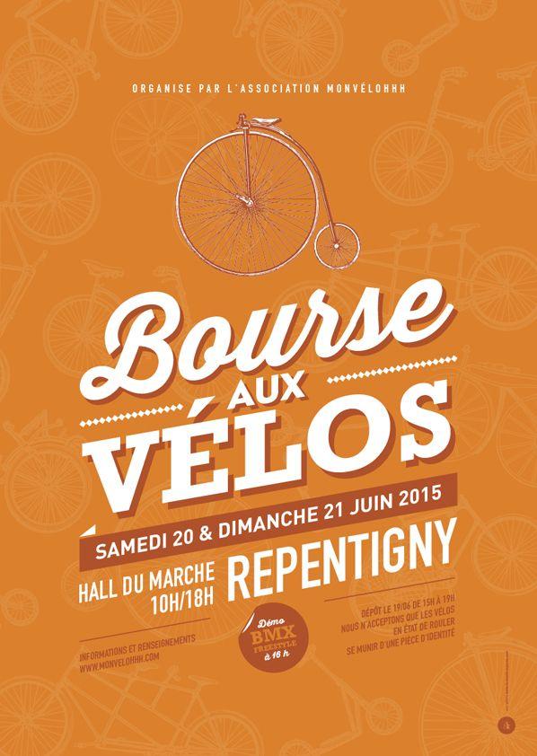 Affiche Brocante bourse aux vélos - Le Moulin à Puces