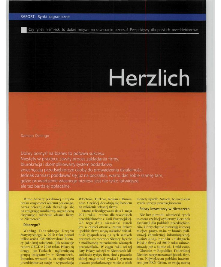 Kancelaria DD Legal z Hamburga, Gazeta MSP listopad 2013, strona 1 #hamburg #DDLegal #law #firma #biznes #prawo #niemcy