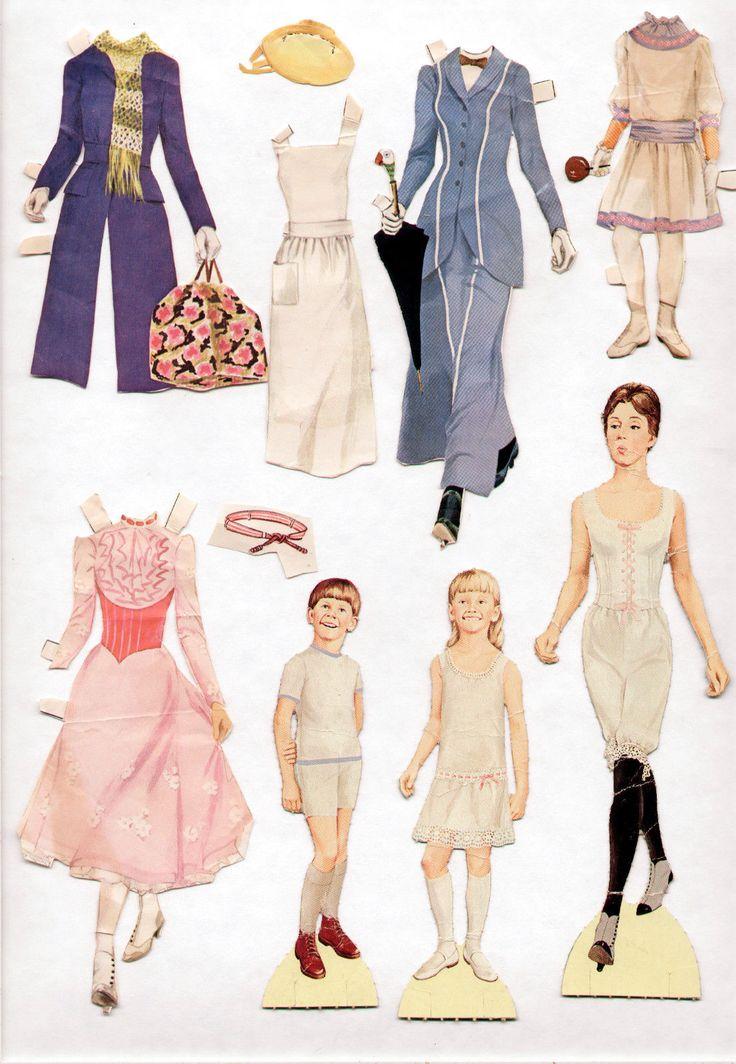 Vintage Watkins Strathmore Jane Michael Mary Poppins Paper Dolls 1964 Cut | eBay