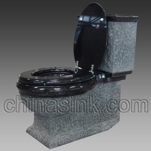 Absolute Natural Stone Black Toilet Bathroom Remodeling