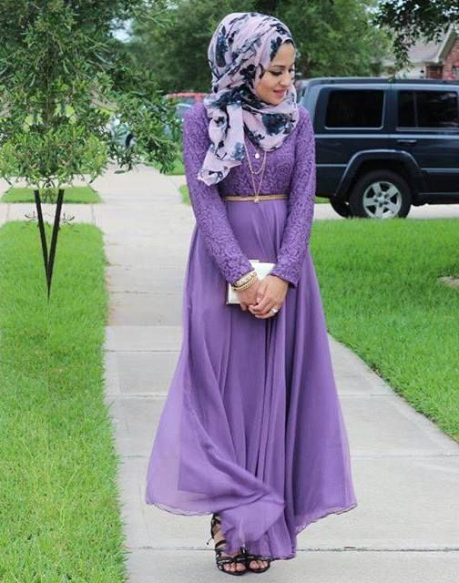 purple maxi dress hijab spring trend- Hijab looks by Sincerely Maryam http://www.justtrendygirls.com/hijab-looks-by-sincerely-maryam/