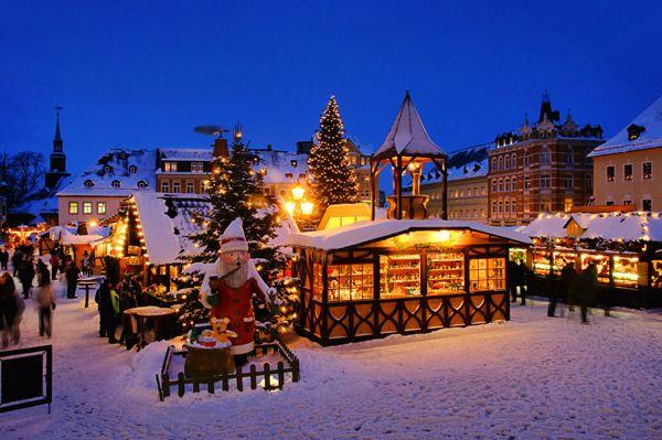 A popular Christmas market in Annaberg Buchholz, Germany & more of Germany's best Christmas markets by rail