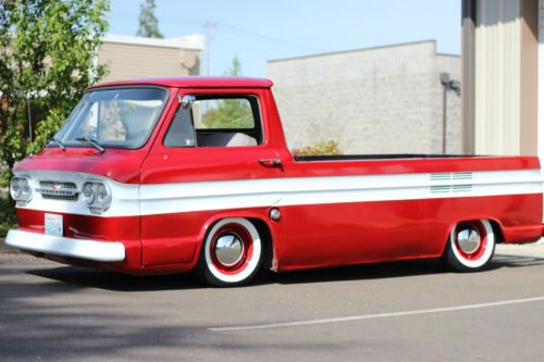 Chevrolet : Corvair Rampside 95 Pickup | Chevrolet, Vintage trucks and Motor car