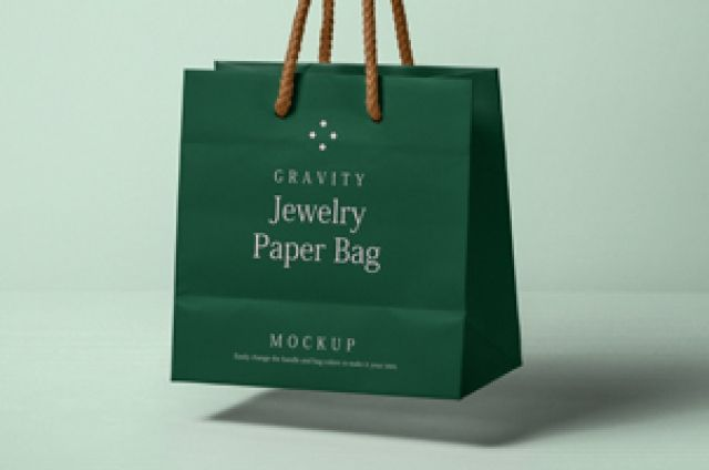 Download This Is A Psd Jewelry Paper Bag Mockup To Complement Our Psd Shopping Bag Mockup Series You Can Change The Handle Bag Mockup Paper Bag Design Name Card Design