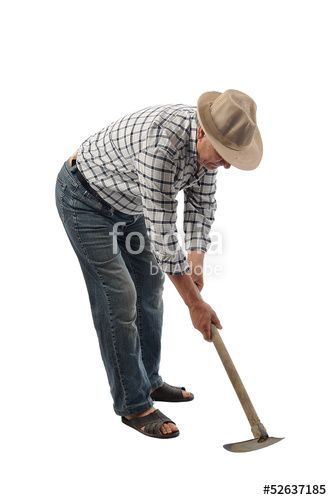 """Download the royalty-free photo """"a farmer man works with a garden tool"""" created by Stelios Filippou at the lowest price on Fotolia.com. Browse our cheap image bank online to find the perfect stock photo for your marketing projects!"""