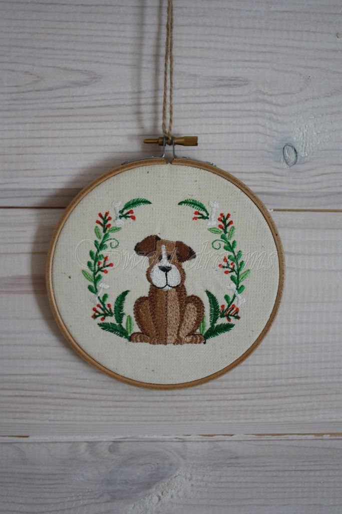 Embroidery#craft#for kids#dog