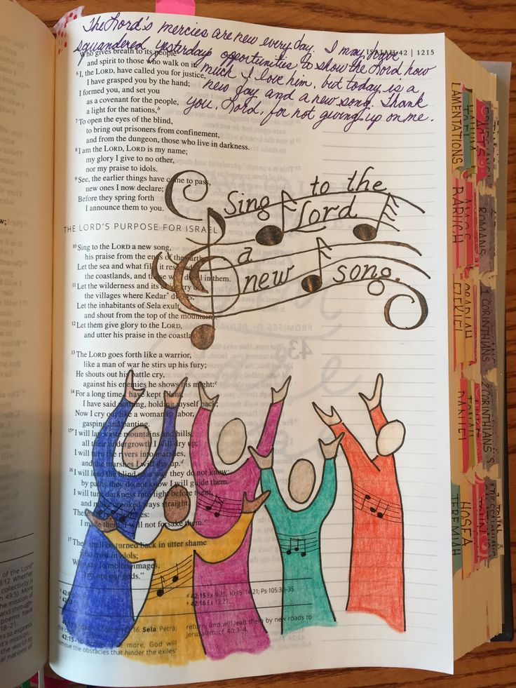 Isaiah 42:10 Sing to the Lord Bible Journaling