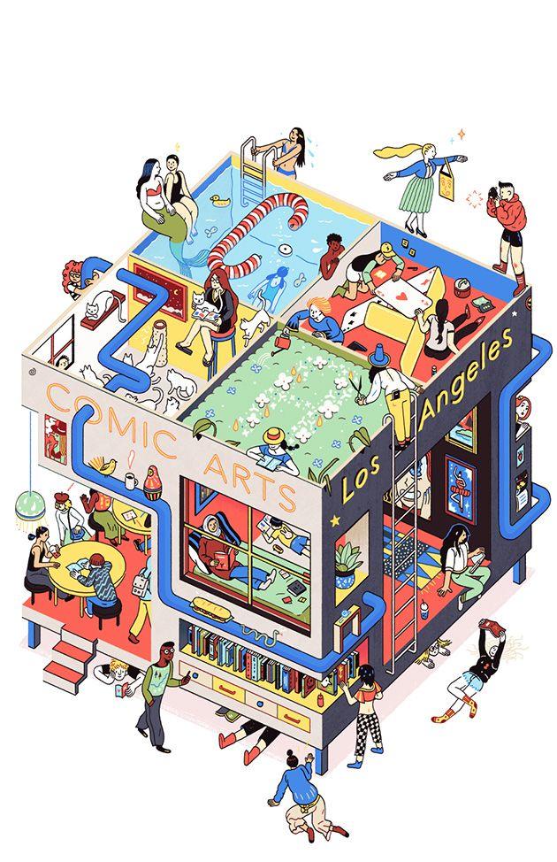 Comic Arts LA poster by Sophia Foster-Dimino
