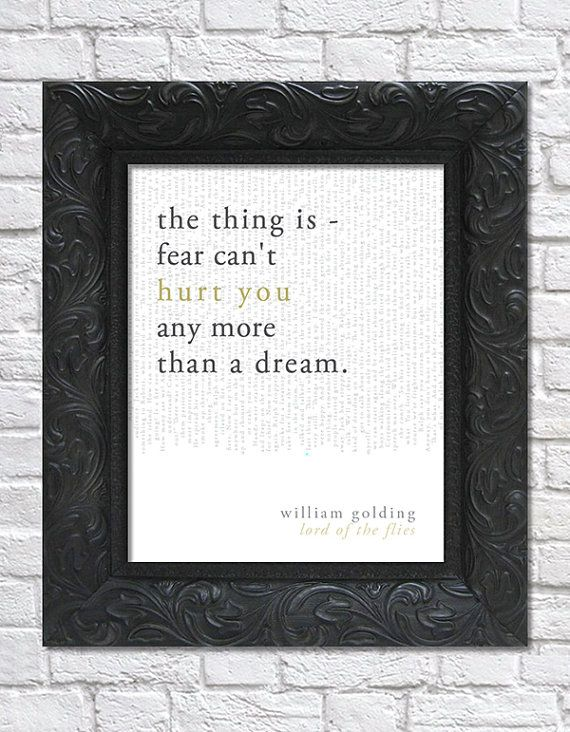 literary art print / book quote; lord of the flies by william golding · via bright designs on etsy