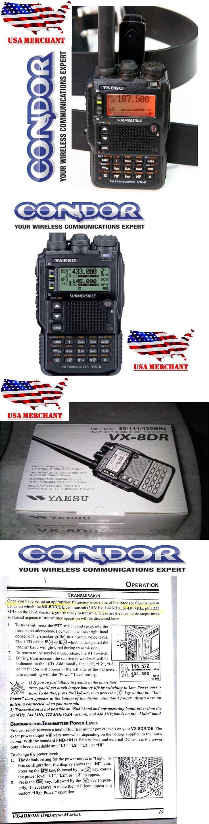 Ham Radio Transceivers: Yaesu Vx-8Dr Handheld Ham Radio Quad-Band Submersible 6M/2M/222/440 Am, Cw, Fm, -> BUY IT NOW ONLY: $375.99 on eBay!