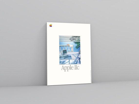 Macintosh IIc Advert from Apple in 80's | Apple II Promotional Merchandise | Vaporwave Art