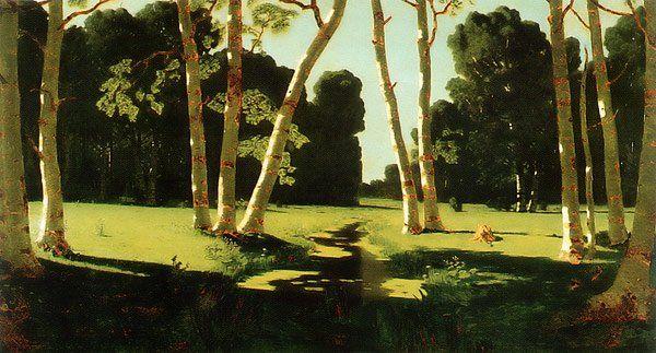 Birch Grove 1879 | Arkhip Kuinji | oil painting #russianpaintings