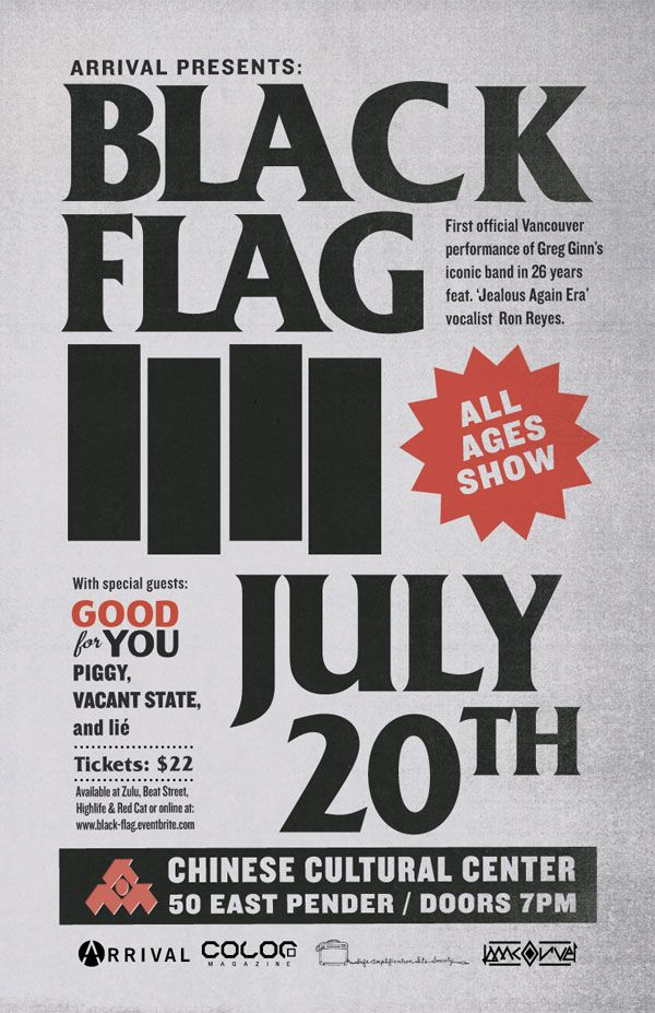 735 best Black Flag flyers images on Pinterest | Flyers, Rock ...