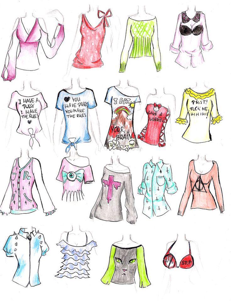 Прикольные картинки одежды для срисовки