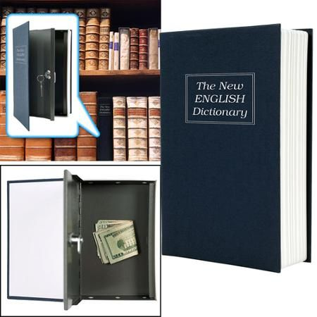 Trademark Dictionary Diversion Book Safe with Key Lock, Metal - Walmart.com