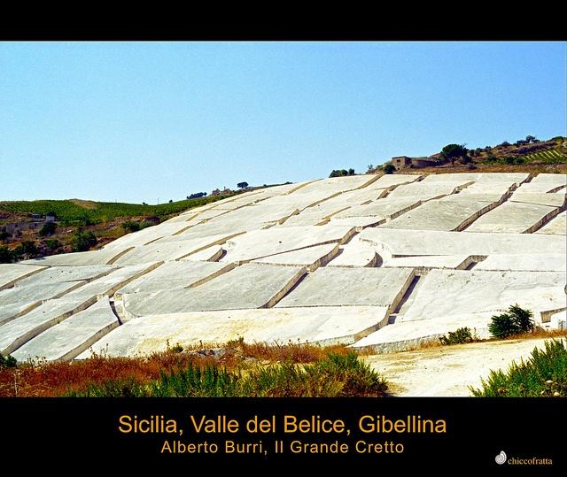 Sicilia, Gibellina, Valle del Belice, Alberto Burri, il Grande Cretto