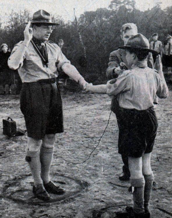 Jan Volkmaars. Hoofdcommissaris van De Nederlandse Padvinders (NPV) van 1955 - 1967.