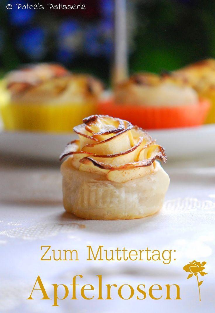 Patces Patisserie: Zum Muttertag: Apfelrosen aus Blätterteig [mit nur 3 Zutaten und minimalem Zeitaufwand]
