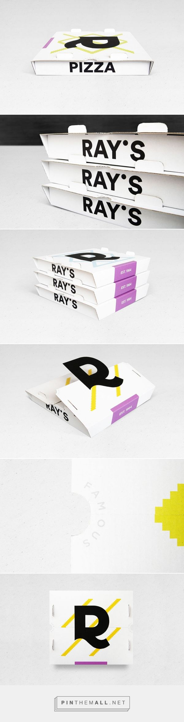 Ray's Pizza (Student Project) - Packaging of the World - Creative Package Design Gallery - http://www.packagingoftheworld.com/2016/12/rays-pizza-student-project.html