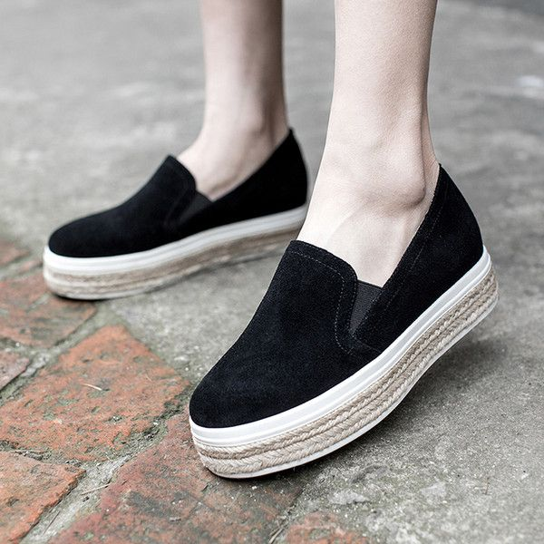 Chiko Keasha Espadrille Slip On Fashion Sneakers (9745 DZD) ❤ liked on Polyvore featuring shoes, sneakers, slip on trainers, flatform trainers, flatform espadrilles, round toe shoes and flatform shoes