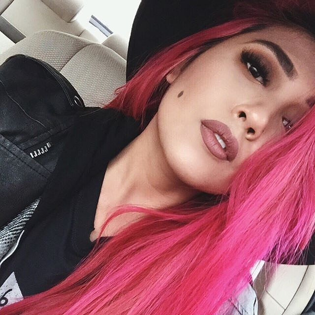 The #lovely blogger Lo Caballero, aka @theriverwolf_ , stuns in every #ManicPanic rainbow color she tries, but this has got to be one of our favorites! She used #HotHotPink and a touch of our award-winning trophy #Pastelizer droplet to achieve this rich shade of magenta. For color this #vibrant, lighten zap your hair to at least a level 9 or 10 #blonde before applying our semi-permanent dyes!