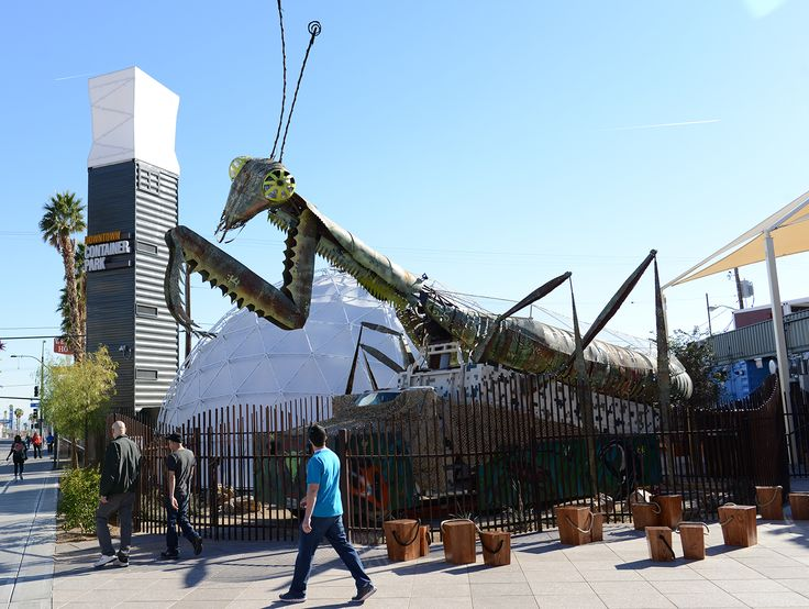 Downtown Container Park Las Vegas- a shopping, dining park + playground constructed mostly from shipping containers. (Brian Jones/Las Vegas News Bureau)