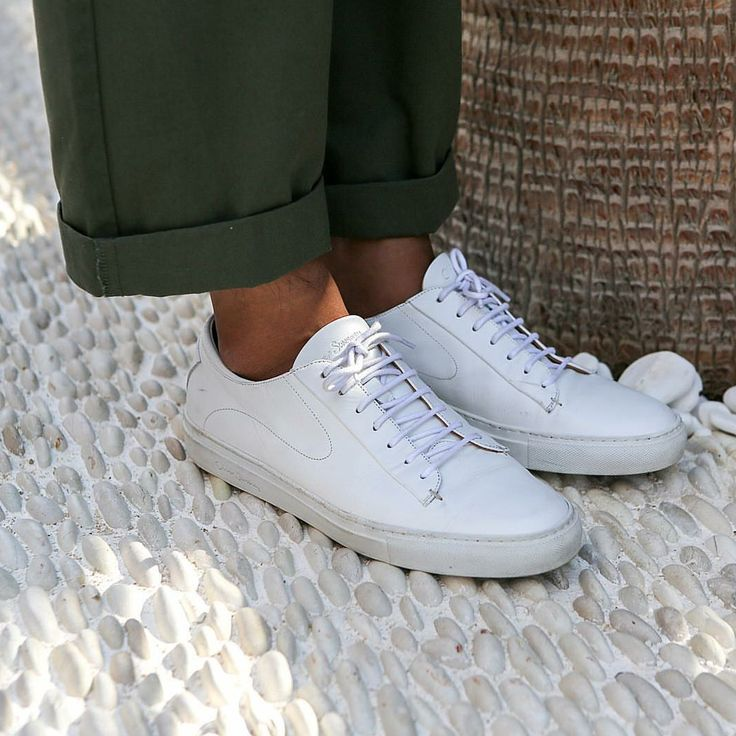 Classic white trainers are a summer essential
