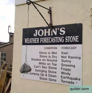 My husband's weather predictor