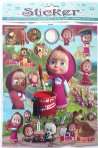 Stickers del cartone animato Masha e Orso 2 pezzi. http://s.click.aliexpress.com/e/fmUFEmy