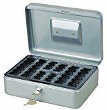 Geldkassette - Maße (LxBxH) ca. 25 x 18 x 9 cm - mit 2 Schlüsseln