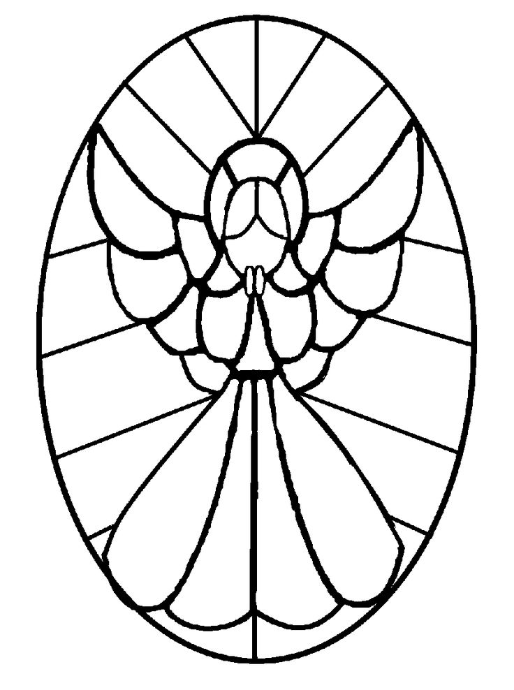 Stained Glass Mosaic Patterns | FREE STAINED GLASS ANGELS PANEL & STEPPING STONE PATTERNS