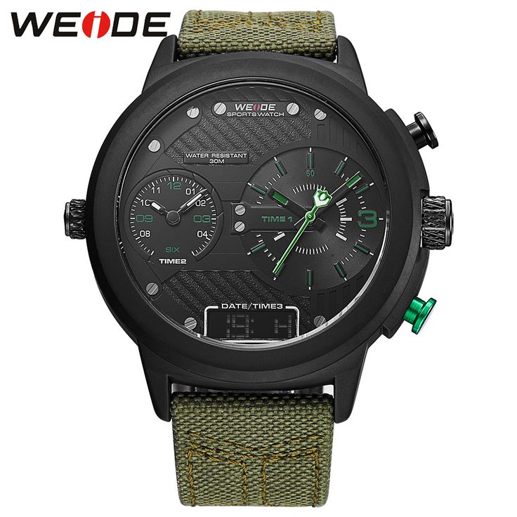 >> Click to Buy << 2017 New Weide Watches Men Luxury Brand Nylon Strap Quartz Clock Led Digital Military Watch Sport Wristwatch Relogio Masculino #Affiliate