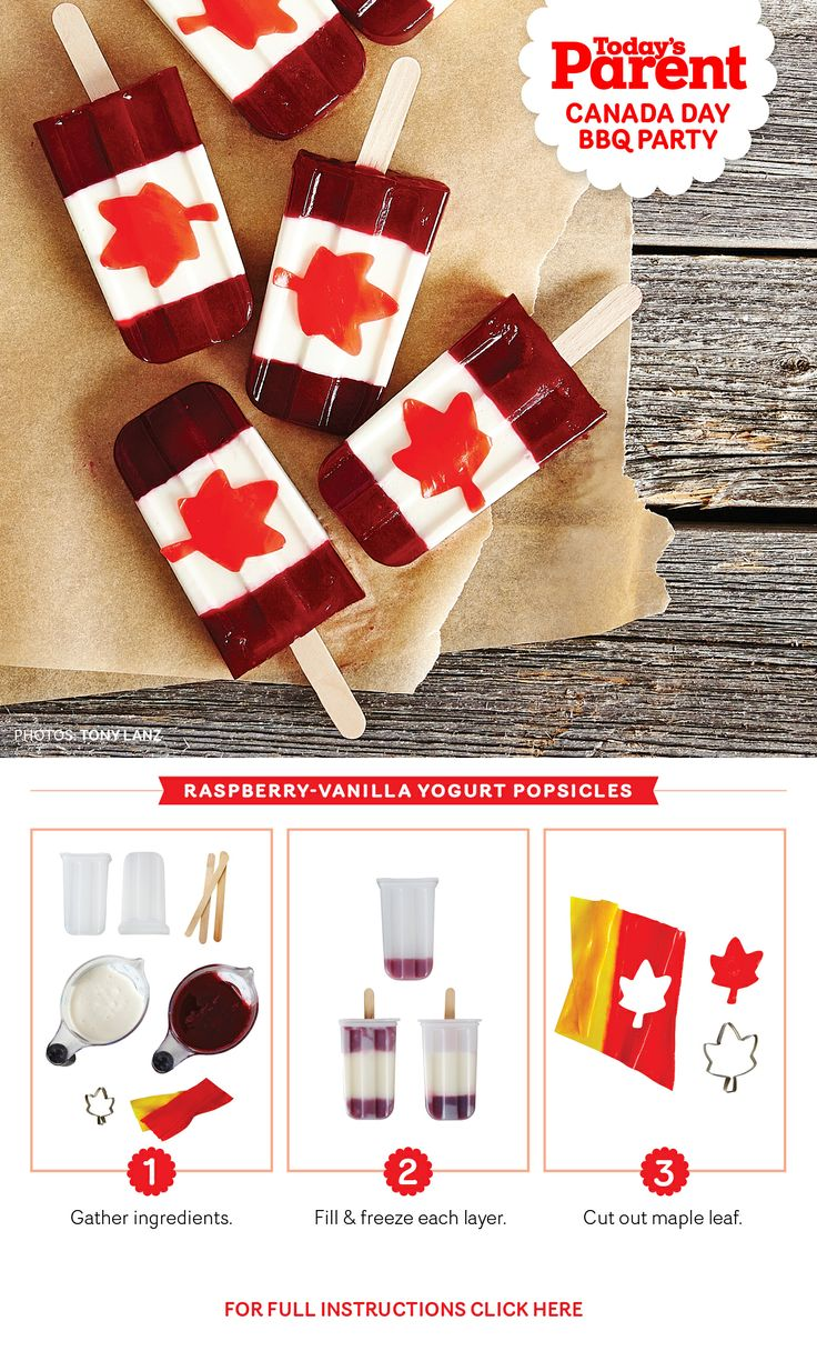 Make these super easy Canada Day Popsicles!