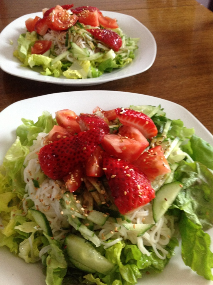 Strawberry with noddle