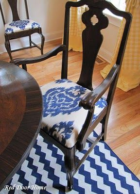 someone asked me about recovering a dining room chair today. this tutorial is about as simple as it gets.