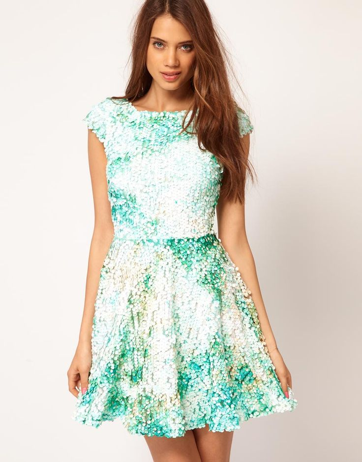 ASOS Skater Dress With Mermaid Sequins (!!!)