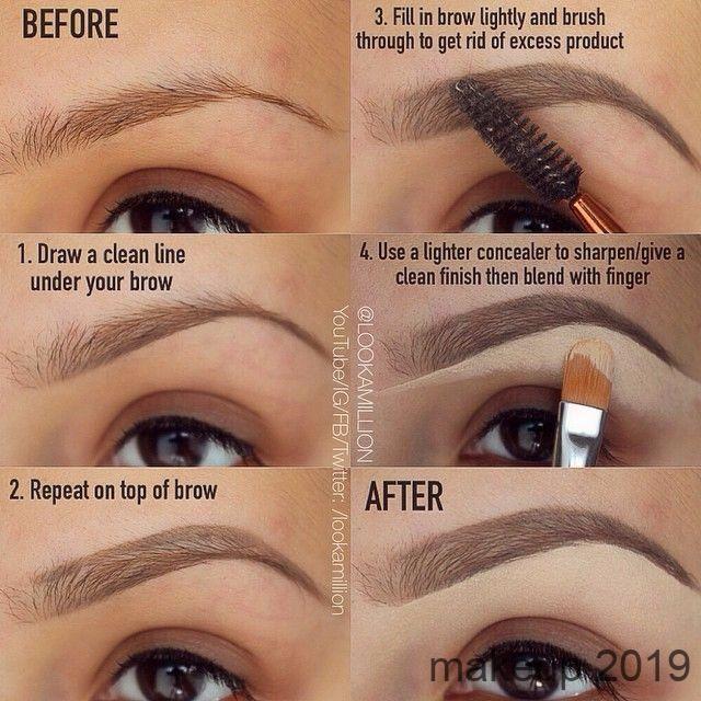 Great Eyebrow Tutorial Makeup Eyebrow Makeup Wedding Makeup