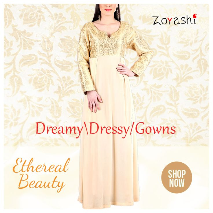 Dress Up this New Year's Eve with Zoyashi's range of Evening Dresses and now you can avail 15% discount while shopping online  #NewYearSpecial #LongGowns #PlayItSimple #SimpleYetElegant #NewCollection #Indain #Apparel #IndoWesternWear